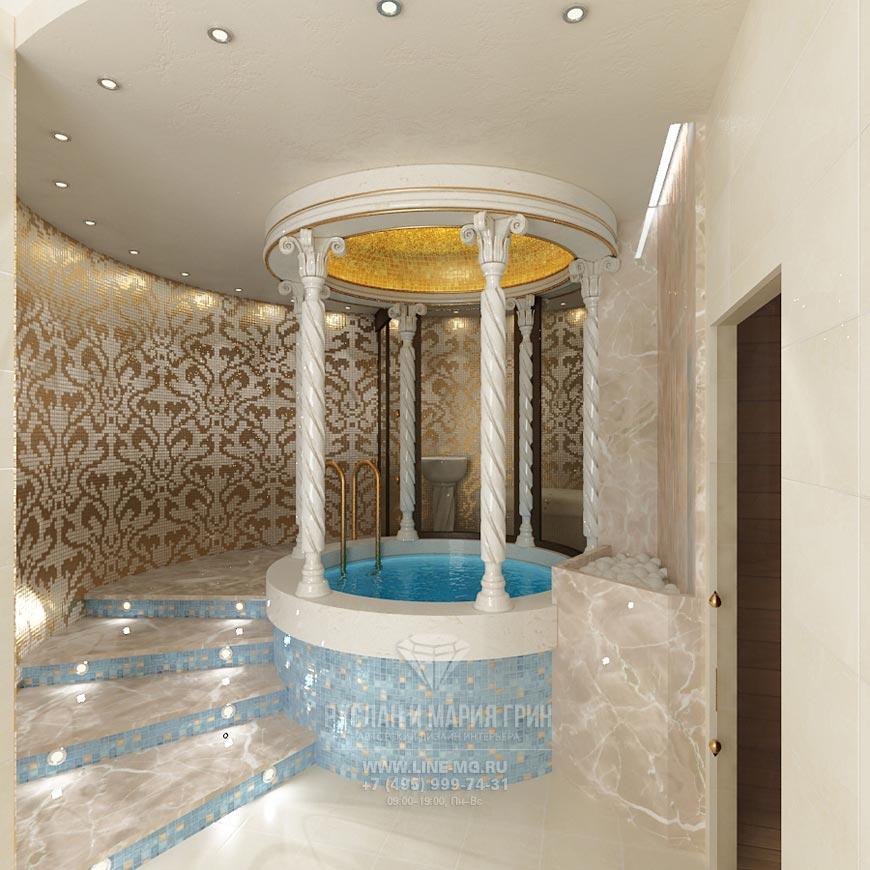 Дизайн бани в подмосковном коттедже
