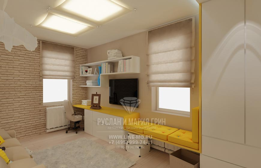 Фото интерьера детской в частном доме