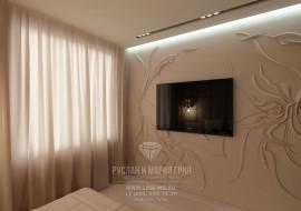 Фото спальни. Дизайн квартиры в современном стиле.