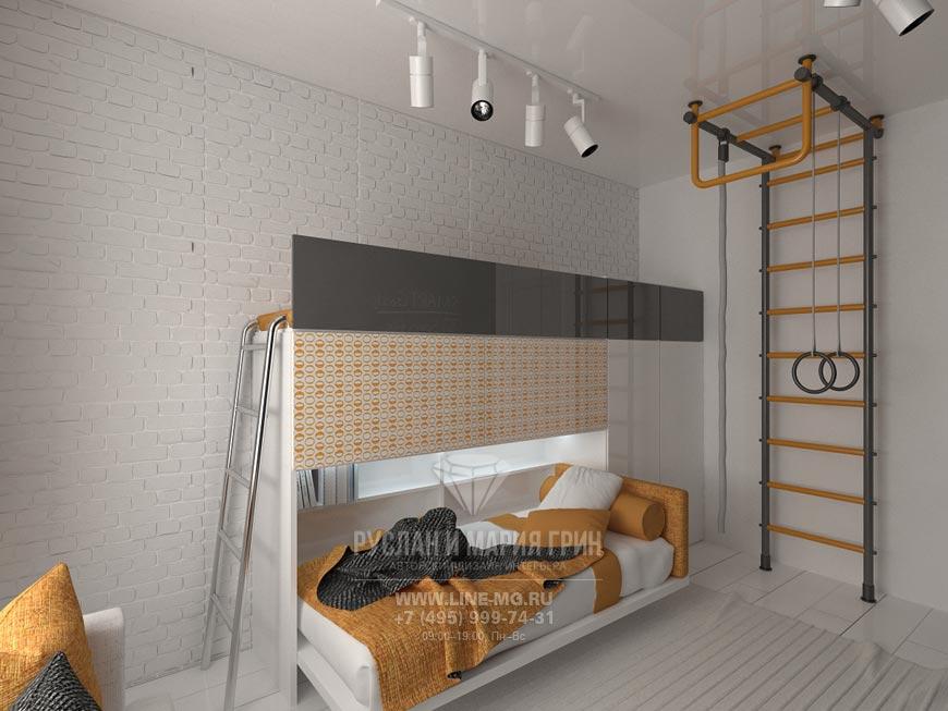 Фото интерьера детской комнаты для мальчика в современном стиле