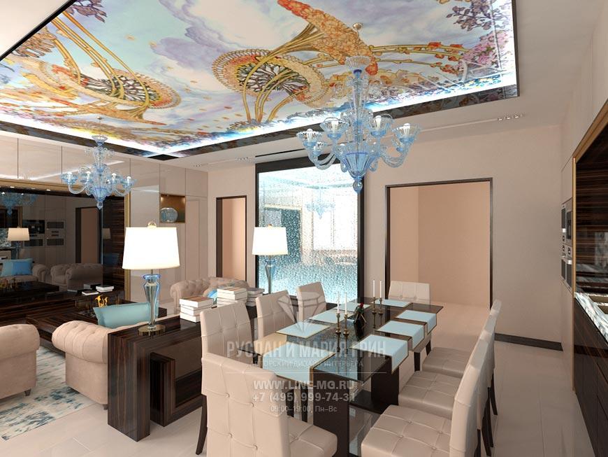 Фото интерьера гостиной в стиле ар-нуво
