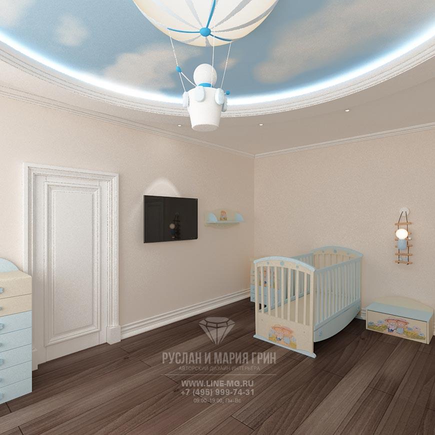 Фото интерьера детской комнаты для новорожденного ребенка