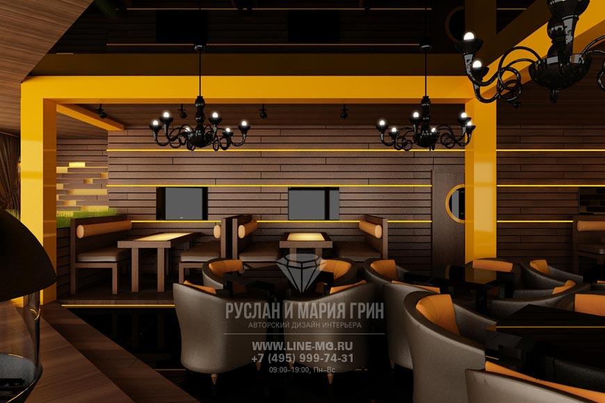Дизайн ресторана Стейк Хаус: фото интерьера 2015