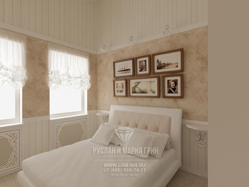 Новинка 2015: Дизайн интерьера спальни. Современная идея в бежевых тонах