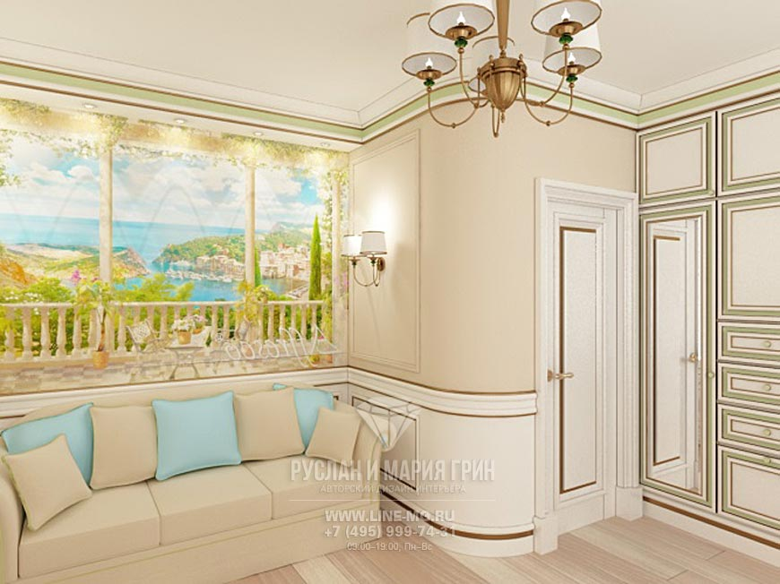 Фото интерьера спальни в бежевом цвете