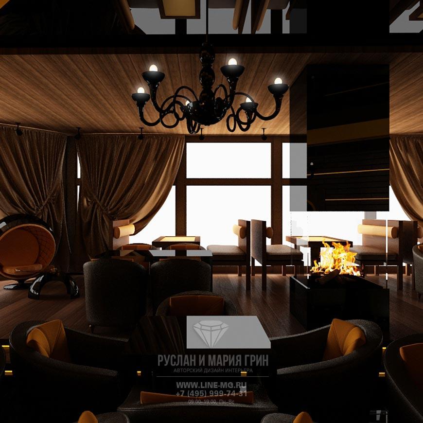 Дизайн стейк-зала в ресторане: фото интерьера
