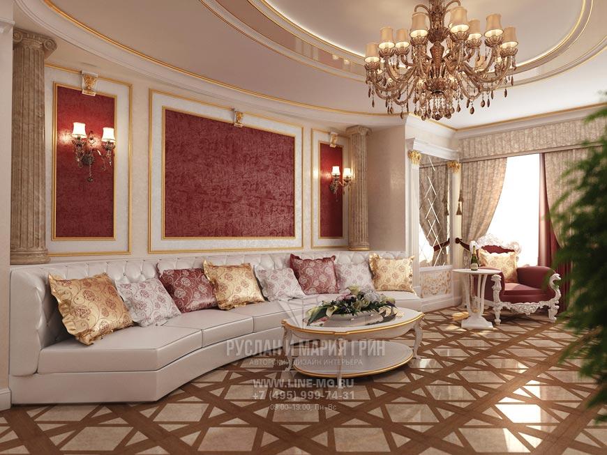 Фото дизайна гостиной с колоннами: современные идеи и фото 2015
