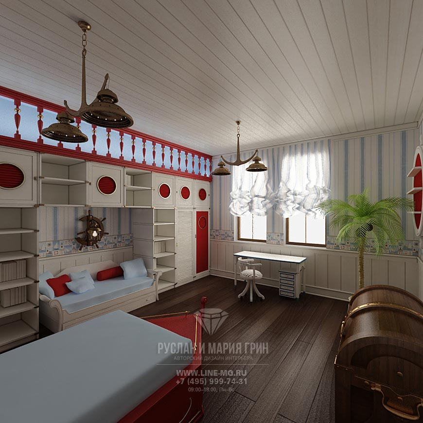 Фото интерьера детской комнаты для мальчика