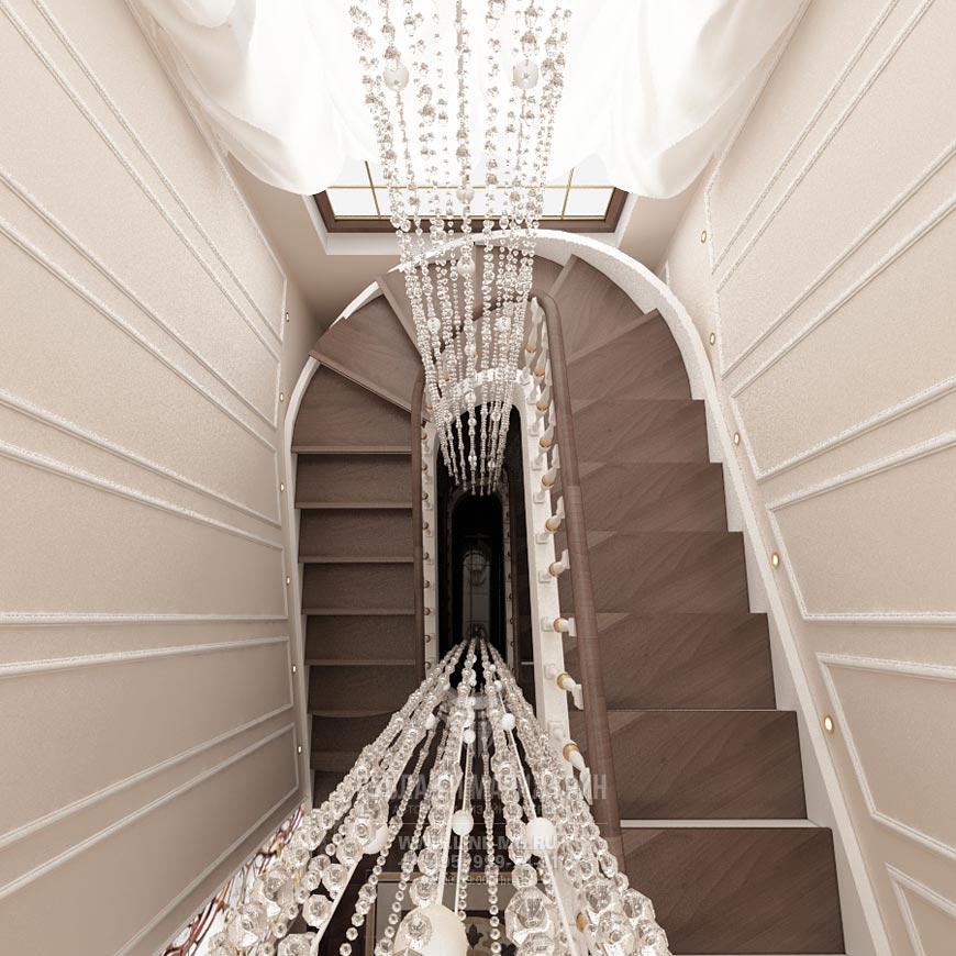 Фото интерьера лестничного холла