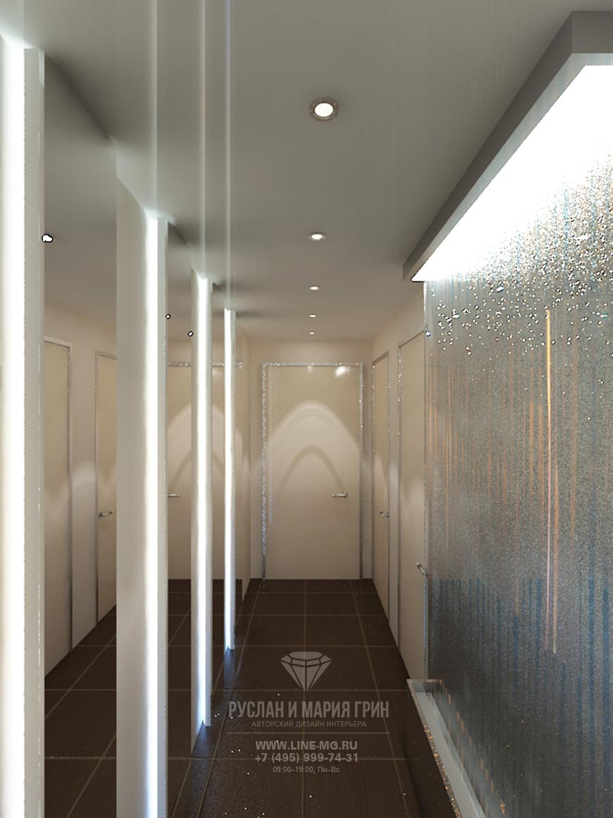 Дизайн футуристического холла в салоне