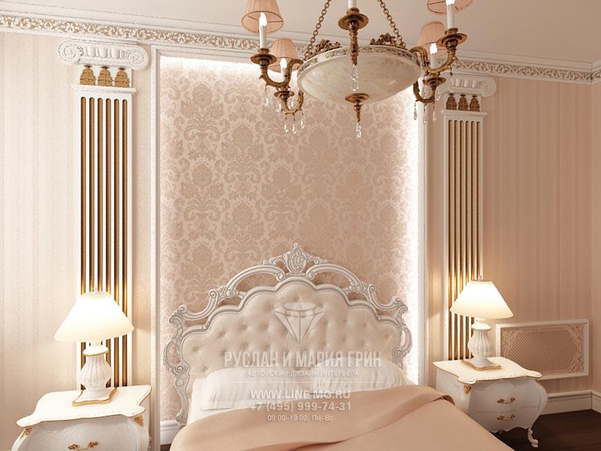 Фото новинка 2015: Интерьер спальни в классическом стиле