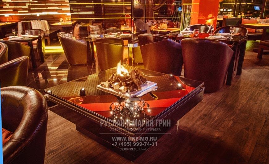 Фото интерьера ресторана Стейк Хаус после ремонта по дизайн-проекту