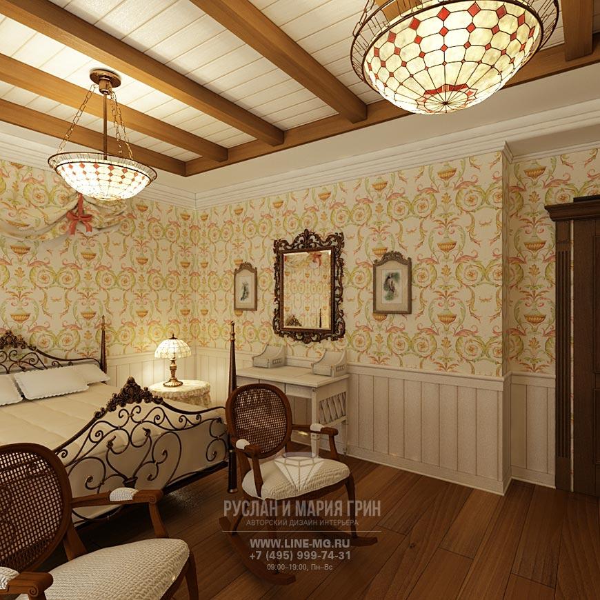 Фото интерьера спальни в классическом стиле