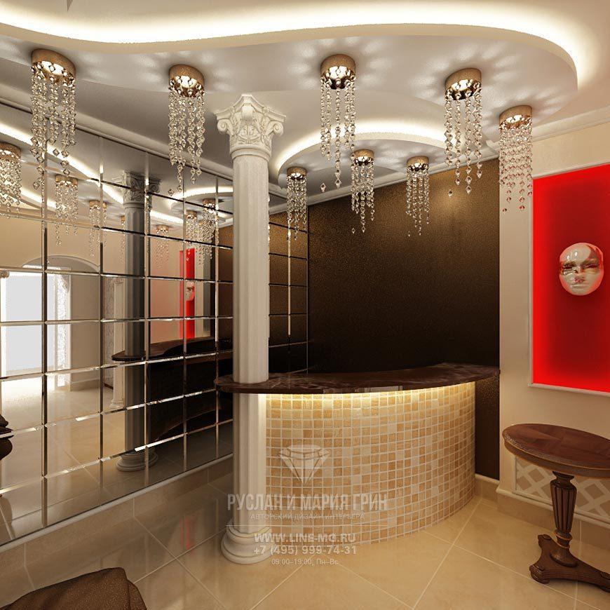 Дизайн зоны ресепшн в салоне