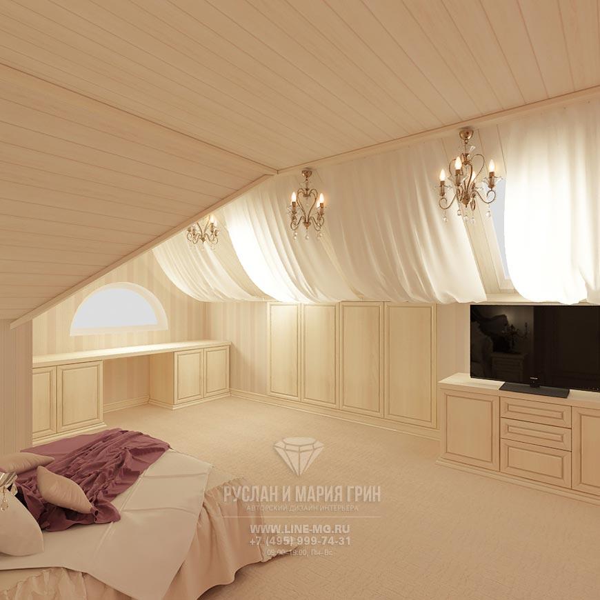 Интерьер неоклассической спальни