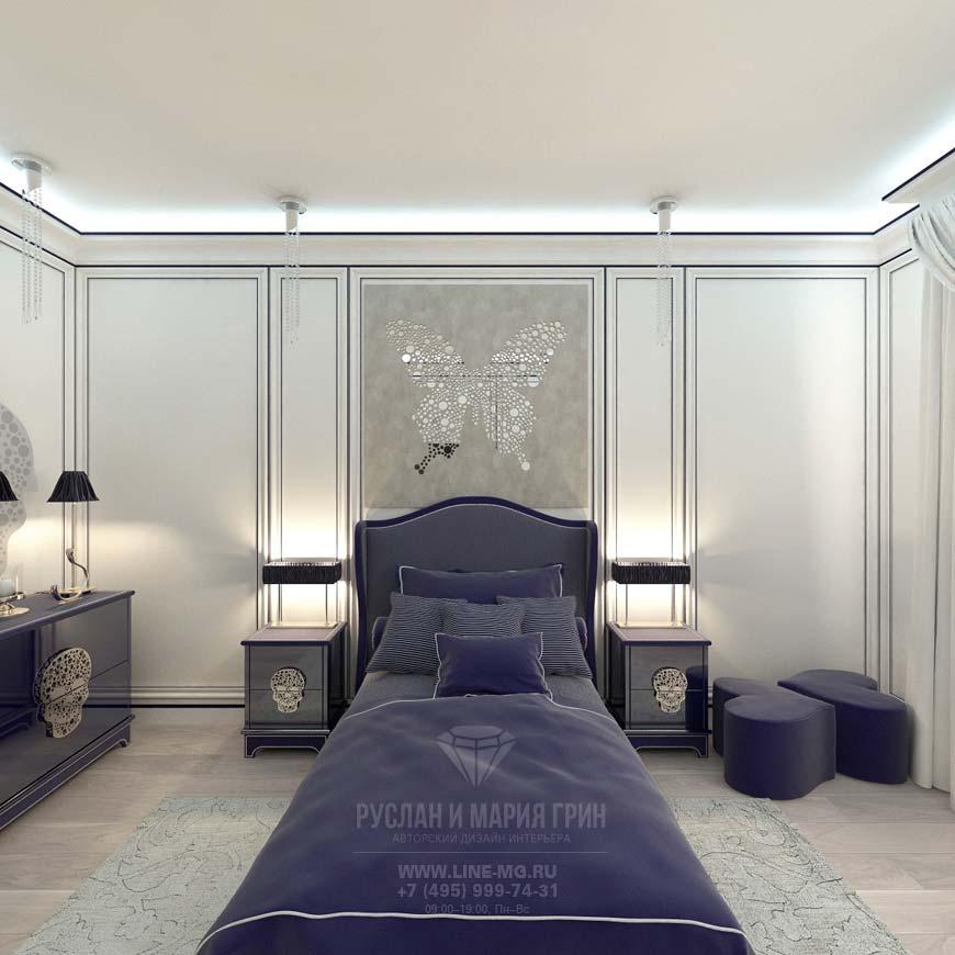 Дизайн интерьера детской спальни в доме