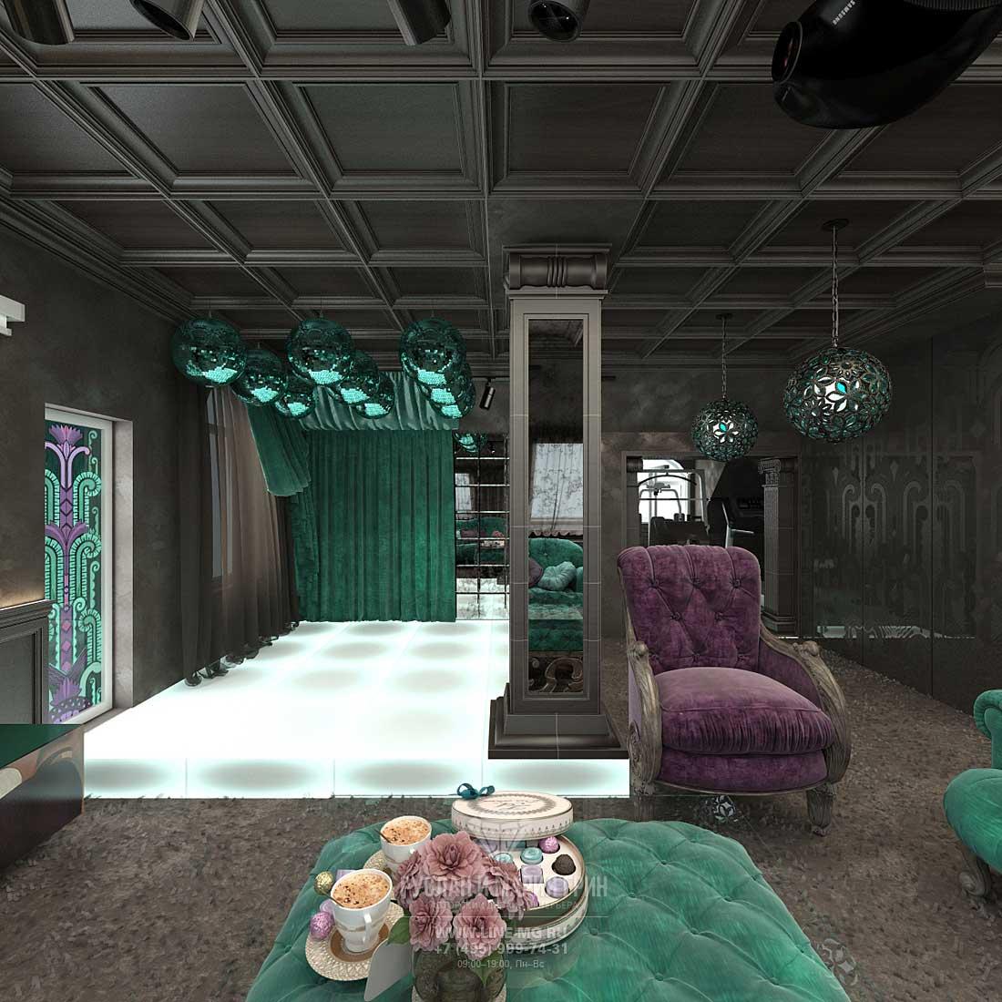 Интерьер мансардного этажа частного дома. Фото новинка 2015