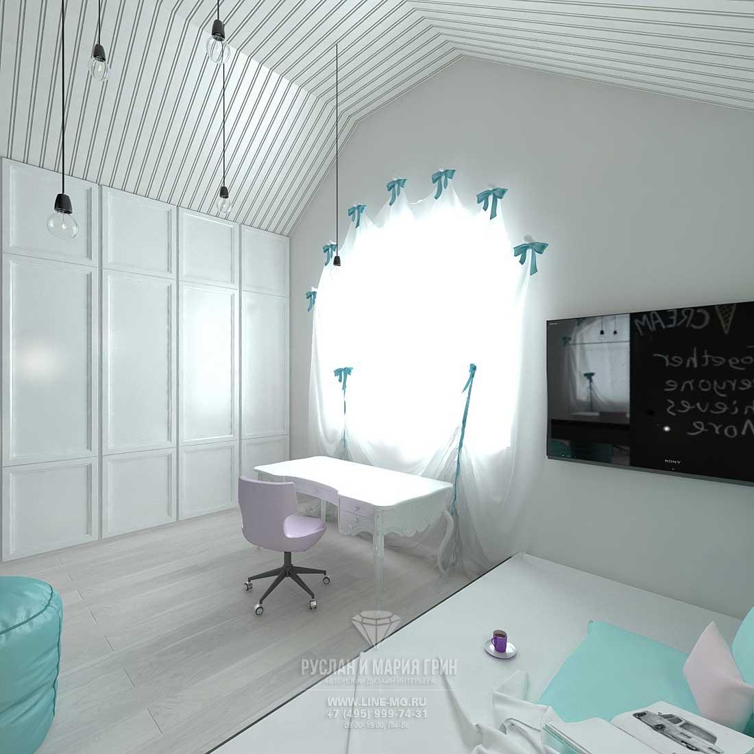 Дизайн гостевой детской комнаты для девочки. Фото интерьеров частного дома