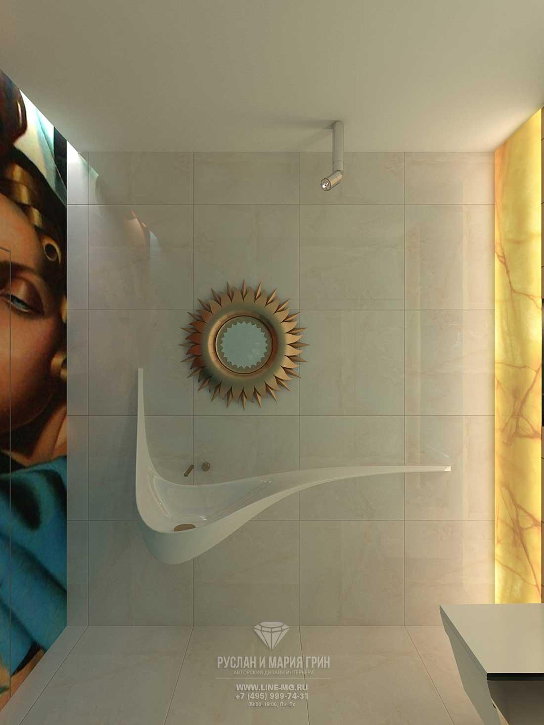 Дизайн санузла в частном доме с мансардой. Фото, новинка 2015