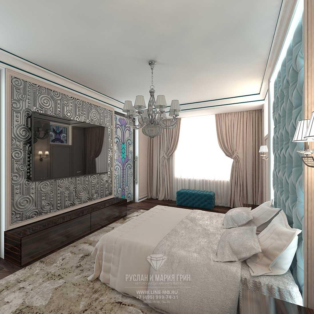 Дизайн спальни в частном доме. Фото новинка 2015