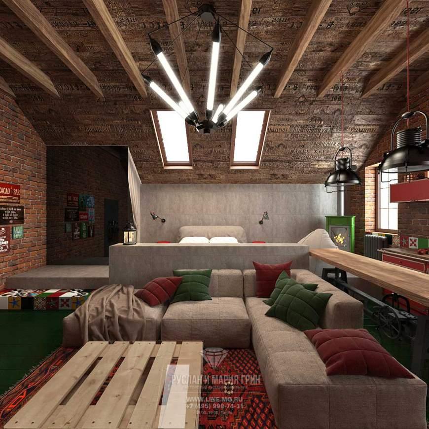 Фото 2015. Дизайн мансарды в частном доме