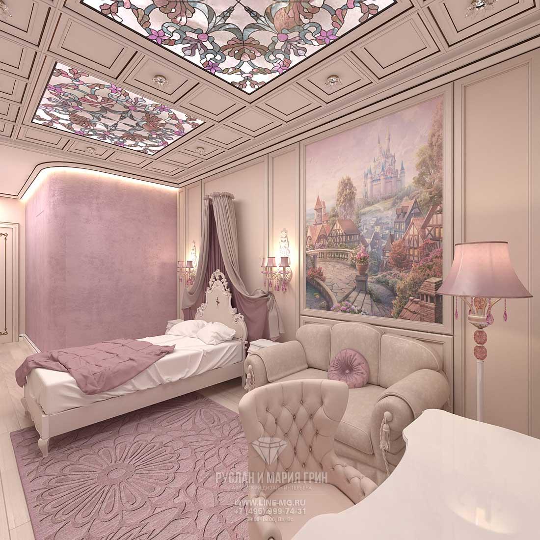 Дизайн детской комнаты для девочки 4-х лет. Квартира в ЖК «Сколково Парк»