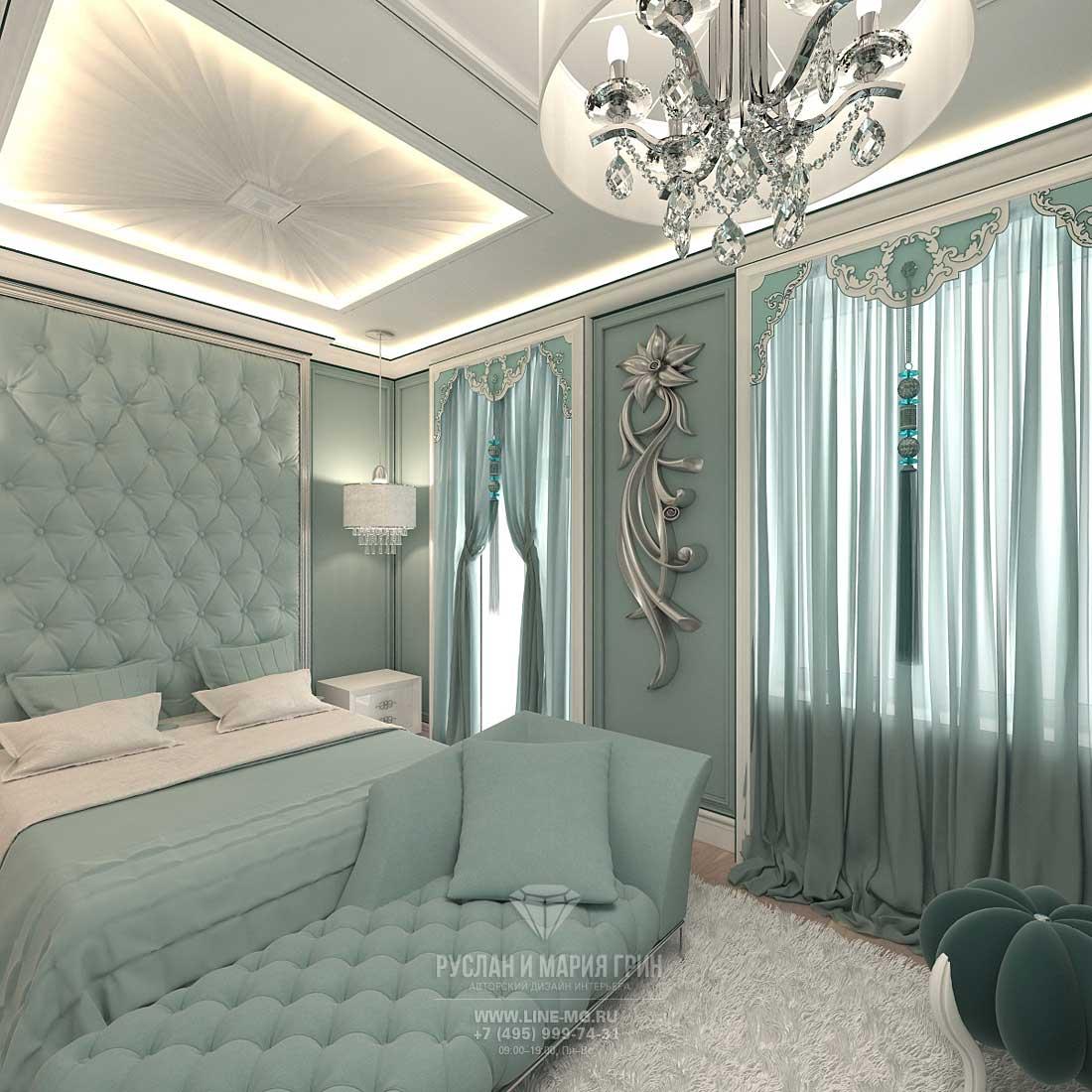Современная идея дизайна спальни в таунхаусе