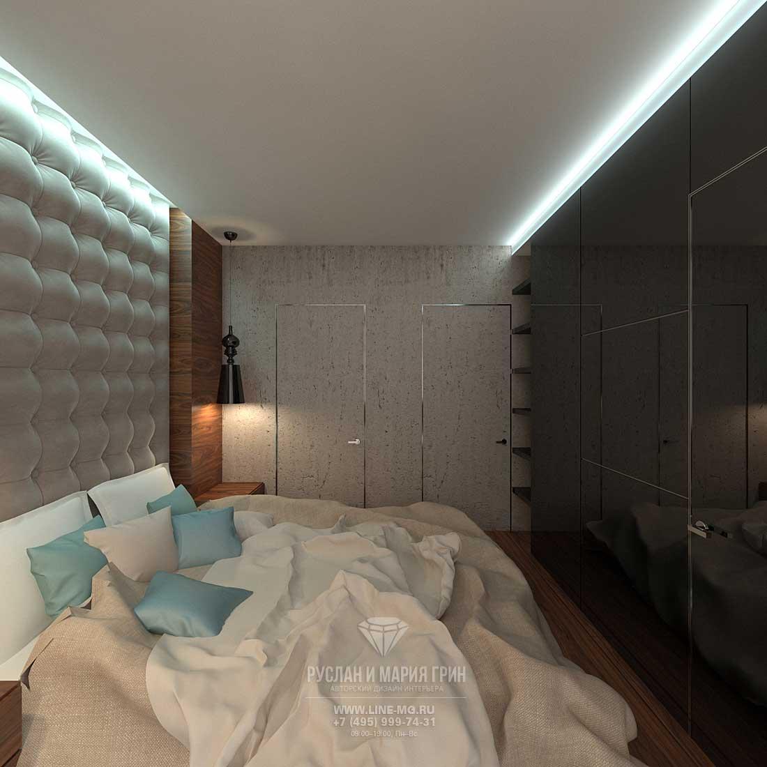 Дизайн спальни в квартире для молодого человека