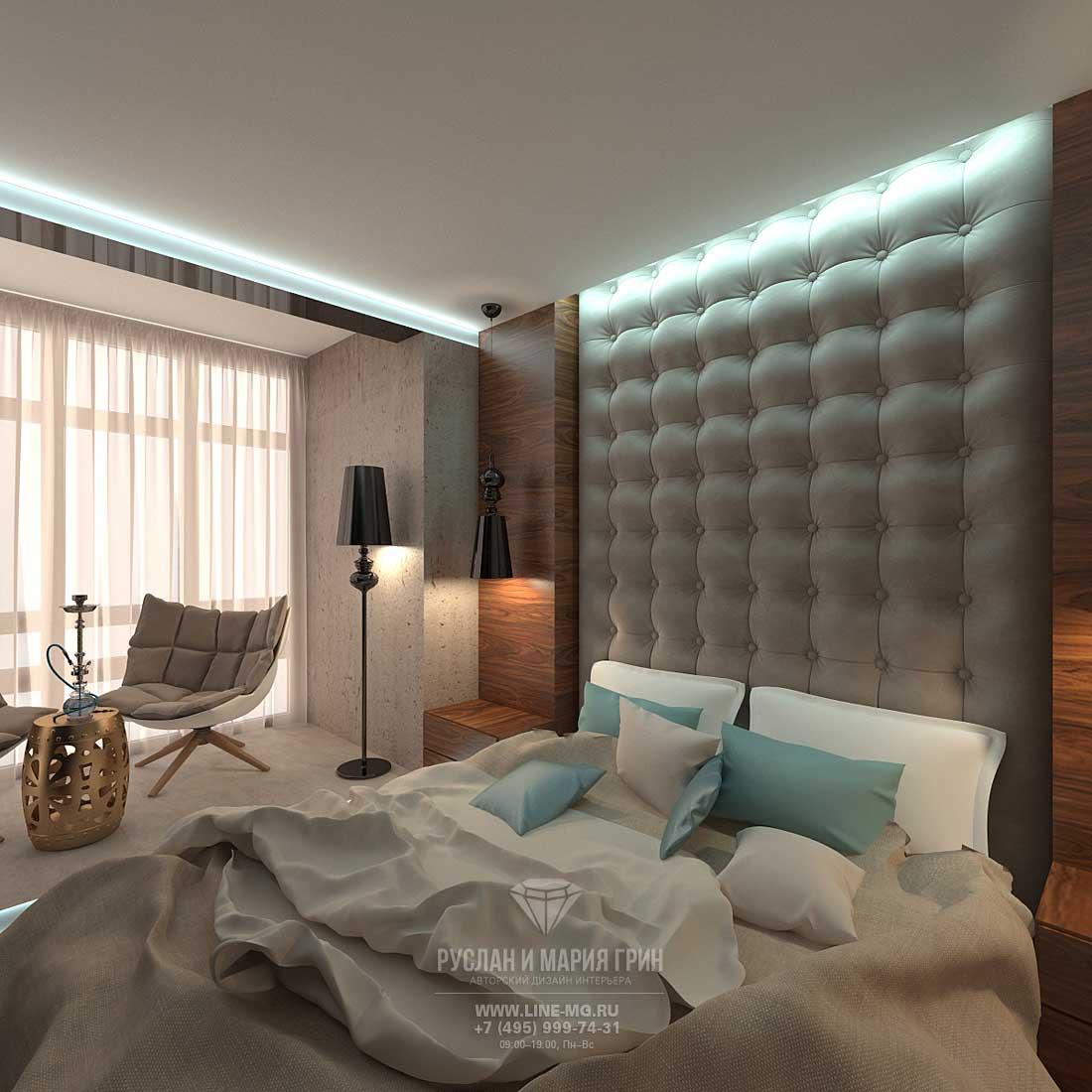Стильный интерьер, фото спальни 2015