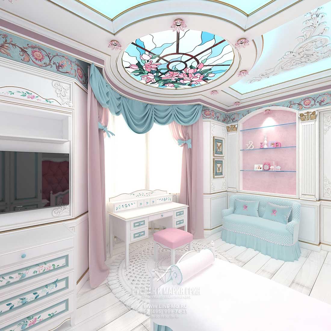 Детская комната для девочки. Фото 2015