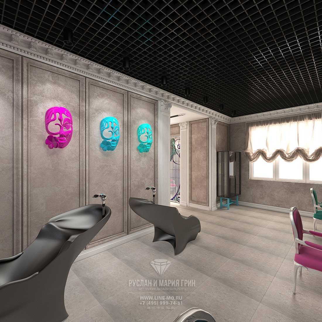 Фото интерьера современного салона красоты