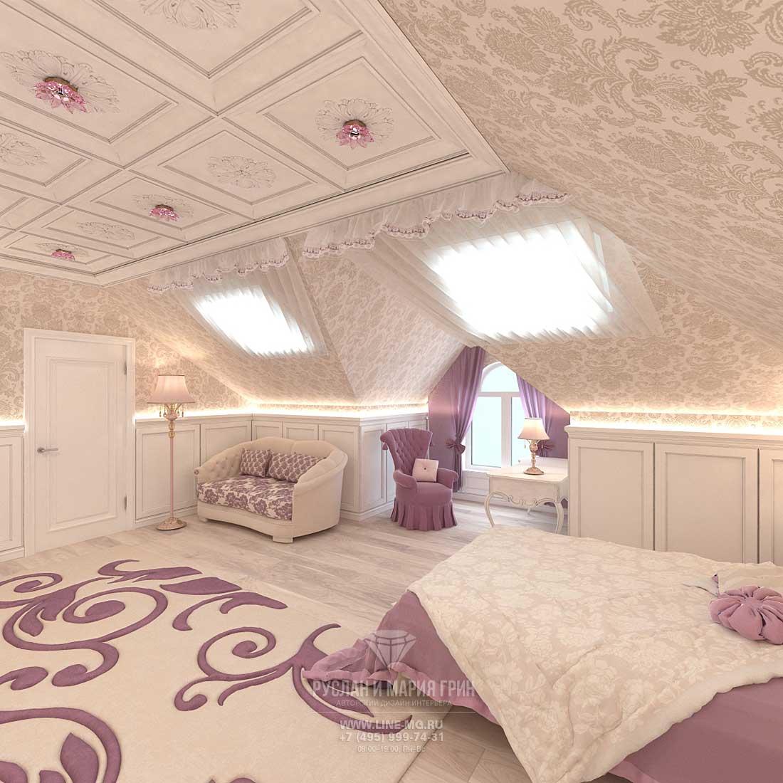 Спальня для девочки. Фото интерьера 2015