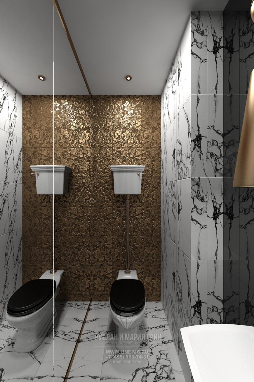 Дизайн санузла в гостиной