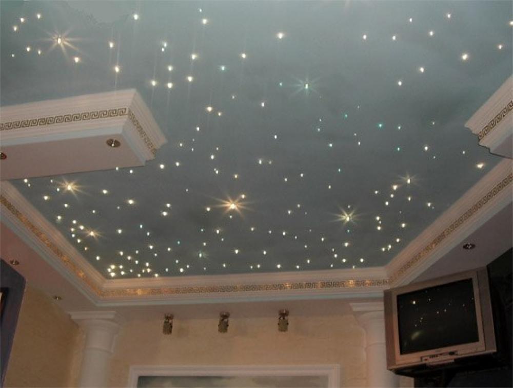 Звездное небо в дизайне потолка