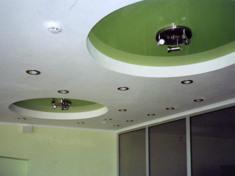 Дизайн подвесного потолка из гипсокартона: фото
